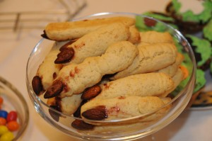 A picture of witch finger food