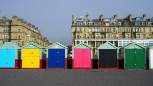A picture of beach huts in Brighton