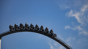 A picture of a rollercoaster