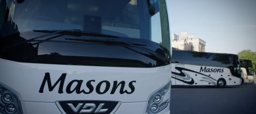 An image of the front of a Masons coach
